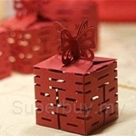 4 Sided Happiness Gift Box (Red) 四面镂空红喜喜字 (红) - 50pcs FREE 1pc