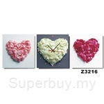hOurHome Modern Art Paintings & Clock-Square, 3 Pieces-Z3216