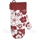 Typhoon Red Botanical Single Oven Glove - 64041