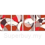 hOurHome Modern Art Paintings & Clock - Rectangular, 4-pieces set - DSA-REC02