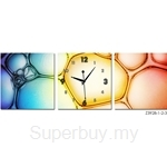 hOurHome Modern Art Paintings & Clock-Square, 3 Pieces- Z3928-1-2-3