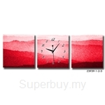 hOurHome Modern Art Paintings & Clock-Square, 3 Pieces- Z3939-1-2-3
