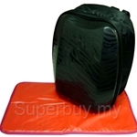 Simple Dimple Black Shield Backpack with Changing Mat - SD01SH