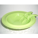 Simple Dimple United Safety Bowl With Suction & Fork & Spoon Set - FS08