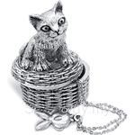 Tumasek Pewter Keepsake Box Cat - 2720