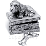 Tumasek Pewter Keepsake Box Dog - 2721