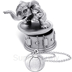 Tumasek Pewter Keepsake Box Elephant - 2722