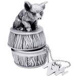 Tumasek Pewter Keepsake Box Pig - 2724