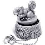 Tumasek Pewter Keepsake Box Squirrel - 2726