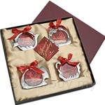 Tumasek Pewter Mini Photoframe Ornaments Set of 4pcs - 2849