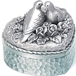 Tumasek Pewter Wedding Box Rose - 2704