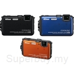 Nikon Coolpix 16 MP CMOS Waterproof Digital Camera with GPS - AW100