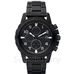 Fossil Men's Dean Stainless Steel Black Dial Watch - FS4646