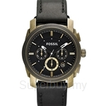Fossil Men's Machine Black leather Watch - FS4657