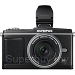 Olympus E-System ~ E-P2 Kit c/w m17mm + Electronic Viewfinder VF-2 + FREE BLS-1 Li-ion Battery