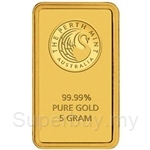 Perth Mint 5g Minted Gold Bar