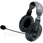 Omega Stylish Stereo Leather Headset - 662862