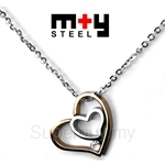 M+Y STEEL Heart in Heart Women Pendant - 103-343