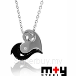 M+Y STEEL Spiritual Love Couples Pendant - 103-429