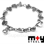 M+Y STEEL Love Link Women Bracelet - 101-308