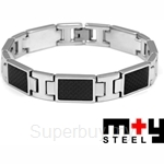 M+Y STEEL Carbon Men Bracelet - 101-352