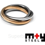 M+Y STEEL Together Couples Ring Women - 105-215
