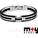 M+Y STEEL Mono Men Bangle - 101-399