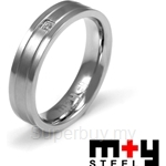 M+Y STEEL Simplicity Couples Ring Women - 105-191