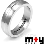 M+Y STEEL Forever Couples Ring Men - 105-194