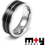 M+Y STEEL Mono Couples Ring - For Men 105-196