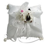 Wedding Ring Bearer Pillow with Teddy Bear (Scented)
