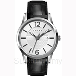 Cross Gotham Series Silver White Dial and Black Strap Watch - CR8002-02