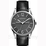 Cross Gotham Series Grey Dial and Black Strap Watch - CR8002-03