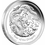 Limited Edition~ 1oz Lunar Dragon 2012 Perth Mint Silver Coin