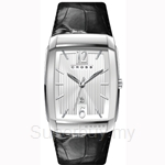 Cross Arial Series Silver White Dial and Black Strap Watch - CR8005-02