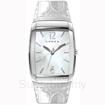Cross Arial Series White MOP Dial and White Strap Watch - CR9005-02