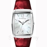 Cross Arial Series White MOP Dial and Red Strap Watch - CR9005-03