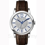 Cross Cambria Series Silver White Dial and Brown Strap Watch - CR8006-02