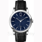 Cross Cambria Series Blue Dial and Black Strap Watch - CR8006-03