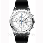 Cross Agency Series Silver White Dial and Black Silicon Strap Watch - CR8011-02
