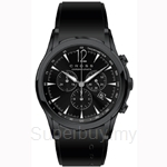 Cross Agency Series IPB and Black Dial and Black Silicon Strap Watch - CR8011-05