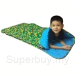 Bazoongi Kids Slumber Bag 57 inch x 30 inch - Turtle Time Green