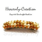 Heavenly Creation Hair Clip Pearls in a Row - 191HC