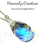 Heavenly Creation Pendant Flat Teardrop Crystal AB - 222PS-2
