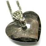 Heavenly Creation Pendant Truly In Love Heart Black Diamond - 262P-2