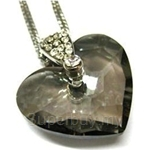 Heavenly Creation Pendant Truly In Love Heart Black Diamond - 265P-3