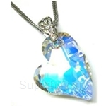 Heavenly Creation Pendant Devoted 2 U Heart Crystal AB - 264P-2