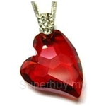 Heavenly Creation Pendant Devoted 2 U Heart Red Magma - 264P-3