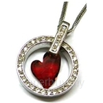 Heavenly Creation Pendant Devoted 2 U Heart Red Topaz - 264P-4