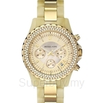 Michael Kors MK5417 Women's MOP Horn Gold Band Watch